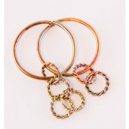 55mm Gold Plated Double Circle Link