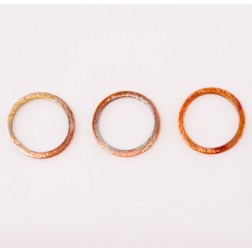 20mm rainbow copper brushed round link
