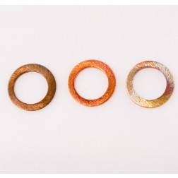 20mm Rainbow Copper Brushed Link