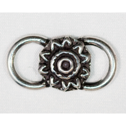 22mm Silver-filled Flower Link