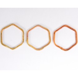 25mm Rainbow Copper Hexagon Link
