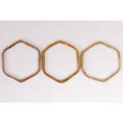 36mm Rainbow Copper Hexagon Link
