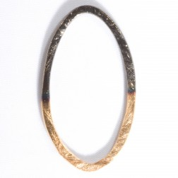 40mm 24k Gold and Rhodium Plated Link