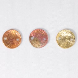 10mm Rainbow Copper 2-hole Disk