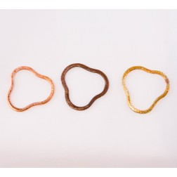24mm Rainbow Copper Brushed Link