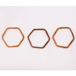27mm Rainbow Copper Hexagon Link