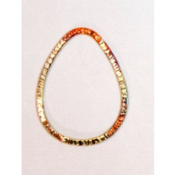35mm Fire Torched Teardrop Copper Link