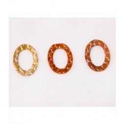 18mm Rainbow Copper Oval Link